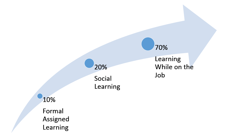 70/20/10 for workforce learning image
