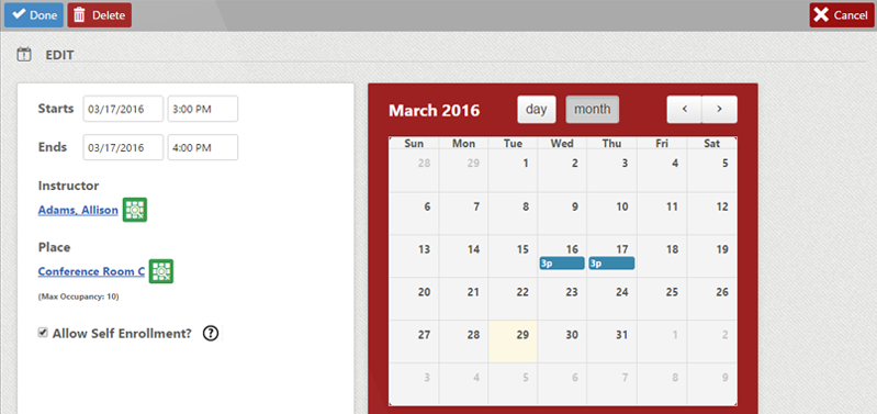 Class Scheduler within LMS for Safety Training Image