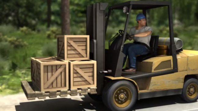 Driving a Forklift Image