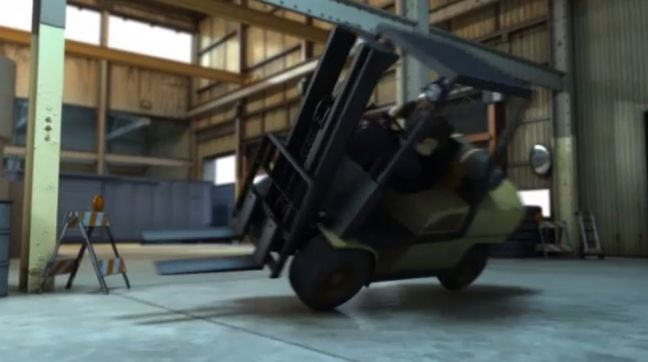 Forklift Unsafe Act Image