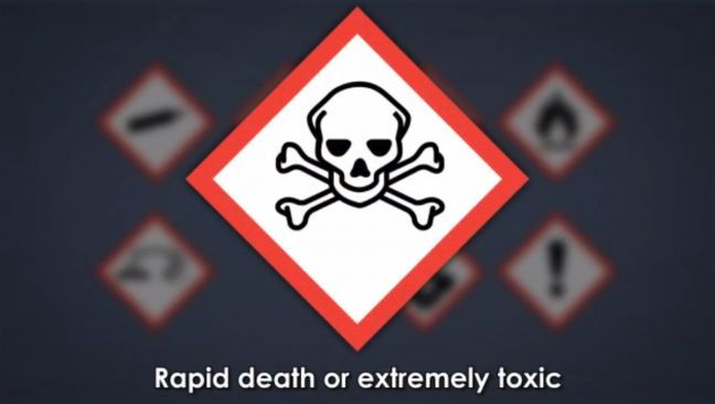 HazCom Pictogram Rapid Death & Acute Toxicity