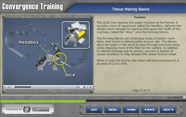 Tissue Manufacturing eLearning Course Sample Image