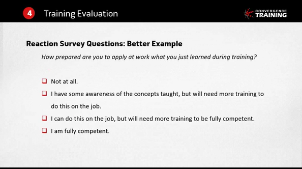 four answer options