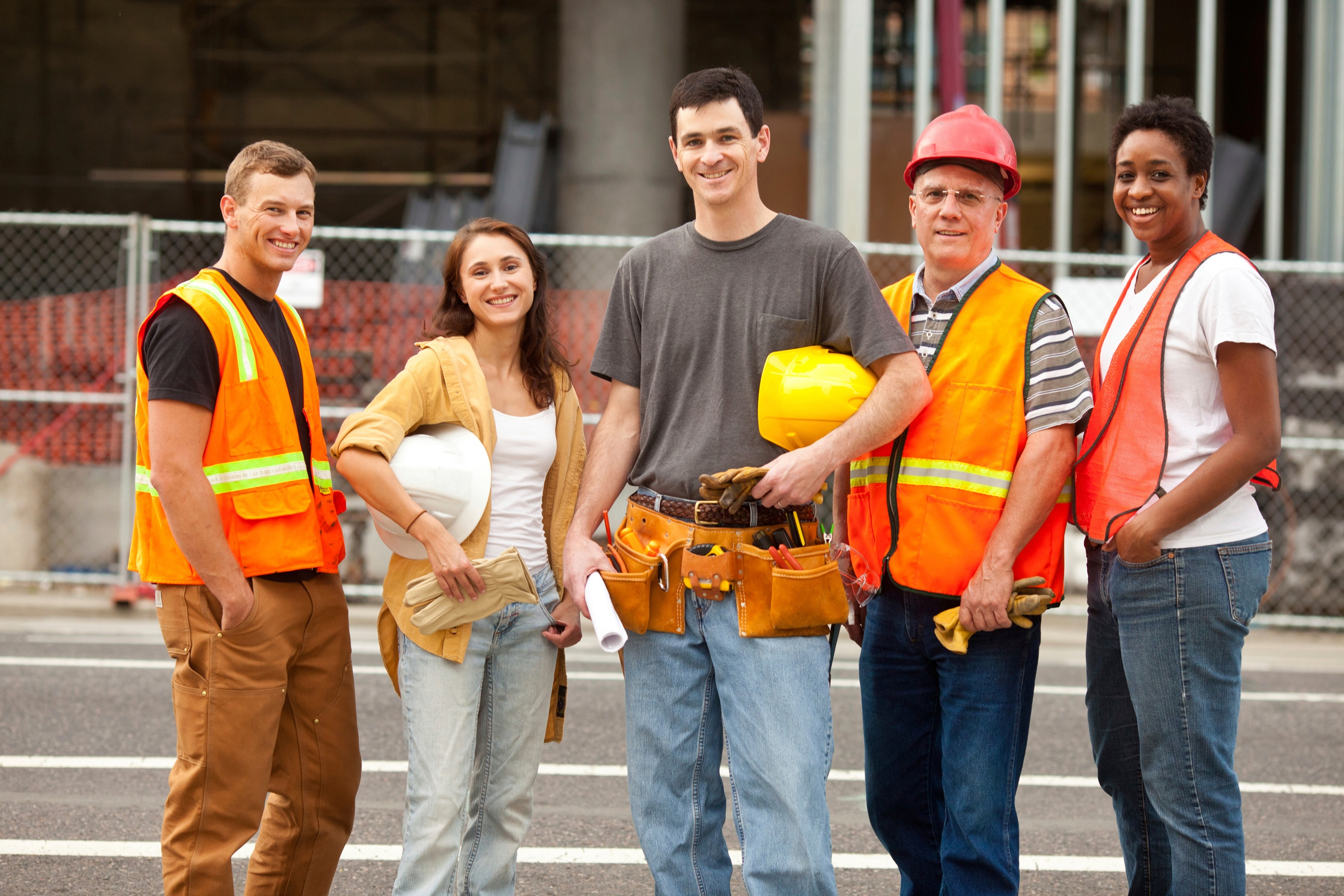 Group of construction / safety workers