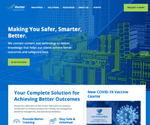 Vector Solutions Unites Brands, Launches Single Dynamic Website to Bring More End-to-End Resources, Innovation to Customers